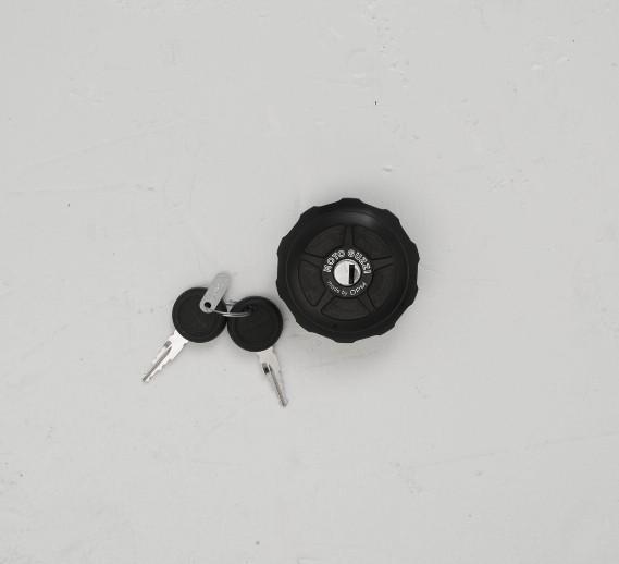 Tankabdeckung, Dark Rider, Aluminium, schwarz für Moto Guzzi V9 Bobber/ V9 Roamer