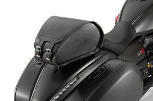 Original Hecktasche, Leder, inclusive Regenhaube für Moto Guzzi MGX 21