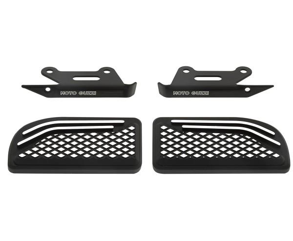 Fußrastenabdeckung, Aluminium, schwarz, für Sozius für Moto Guzzi MGX 21