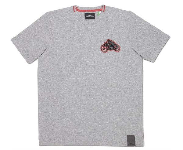 Moto Guzzi Herren T-Shirt Garage Baumwolle grau