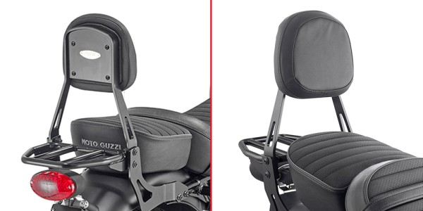 Sissybar mit Träger schwarz für Moto Guzzi V9 Roamer / V9 Bobber (Bj.16-) Original Givi