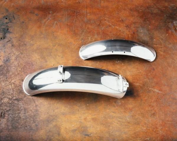 Kotflügel Aluminium, Paar, chrom für Moto Guzzi V7 I+II, V7 III