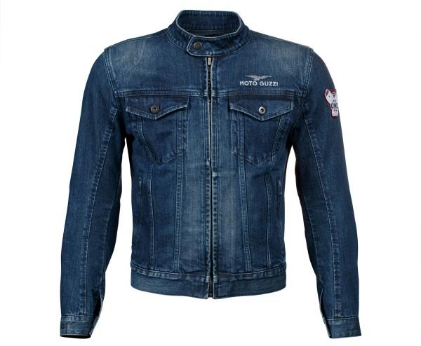 Moto Guzzi Jacke blau Polyester-Denim