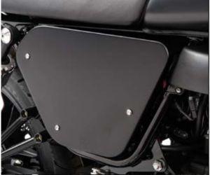 Original Abdeckungen, Aluminium, schwarz für Moto Guzzi V7 I+II