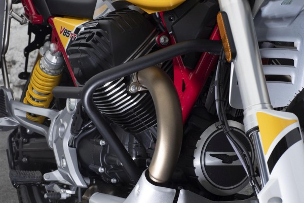 Original Motorschutzbügel, schwarz für Moto Guzzi V85 TT