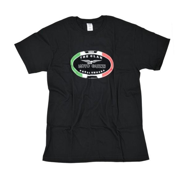Moto Guzzi Herren T-Shirt THE CLAN schwarz