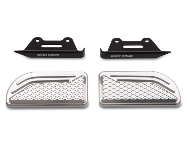 Original Auflagen für Fussrasten, Aluminium für Moto Guzzi Audace
