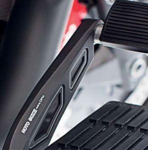 Abdeckung, Aluminium, schwarz, für Fußbremshebel für Moto Guzzi MGX 21/ Audace