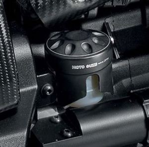 Original Abdeckung für Bremsflüssigkeitsbehälter, Aluminium, schwarz für Moto Guzzi MGX 21