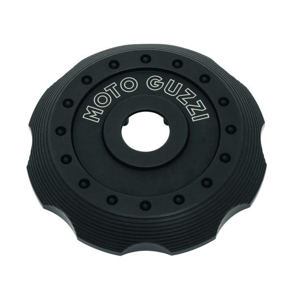 Abdeckung für Tankdeckel, schwarz Aluminium für Moto Guzzi V7 III / V7 850
