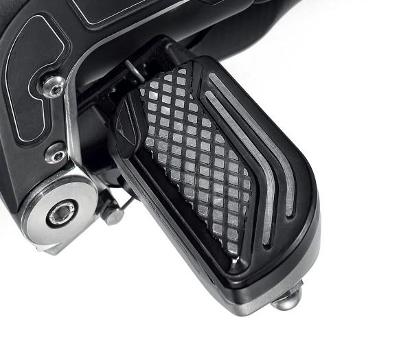 Fußrastenabdeckung, Aluminium, schwarz für Moto Guzzi MGX 21