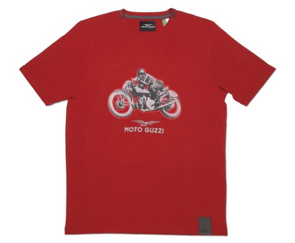 Moto Guzzi Herren T-Shirt Garage Baumwolle rot