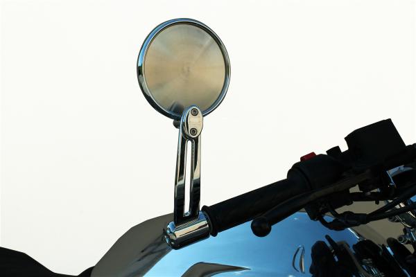 Original Spiegel, Aluminium, silber für Moto Guzzi V7 III