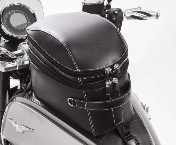 Original Tankrucksack, Leder, schwarz für Moto Guzzi Eldorado