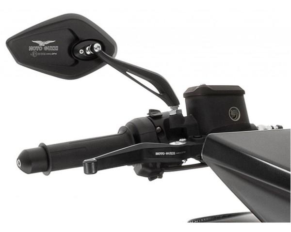 Spiegel, Satz, Aluminium, schwarz für Moto Guzzi MGX 21