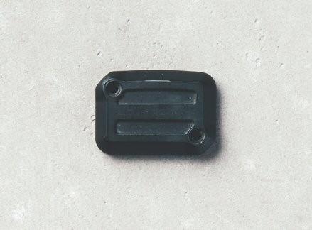 Abdeckung für Bremsflüssigkeitsbehälter, Aluminium, Dark Rider, schwarz für Moto Guzzi V7 III