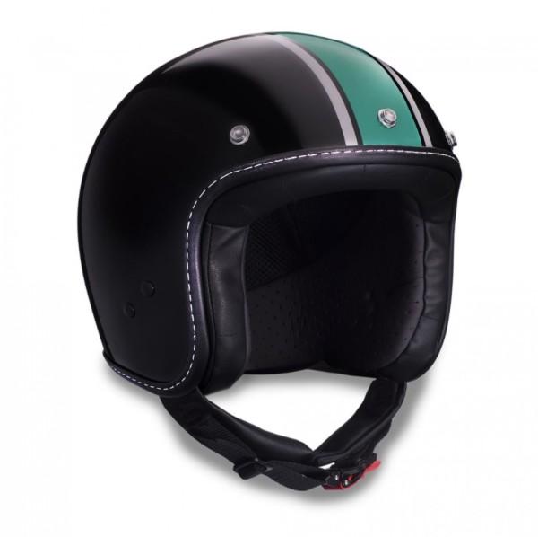 Moto Guzzi Jethelm, V7 III Special, schwarz, grün, silber, Black