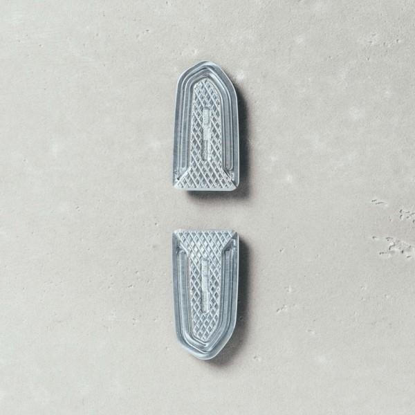 Fußrastenabdeckung, Aluminium, Sozius für Moto Guzzi V7 III/ V9 Roamer / Bobber