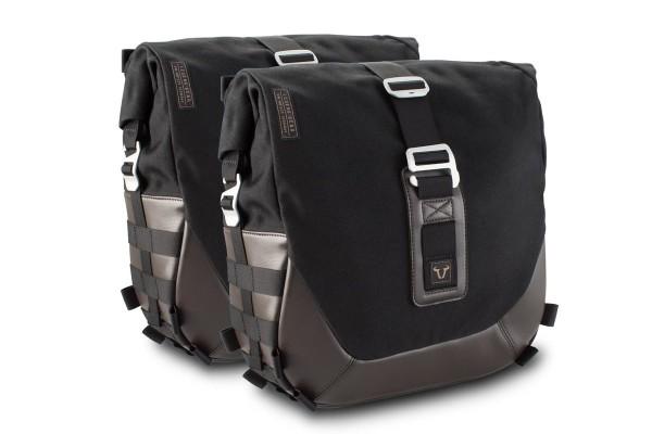 Legend Gear Seitentaschen-System LC Black Edition für Moto Guzzi V9 Roamer / Bobber SW Motech