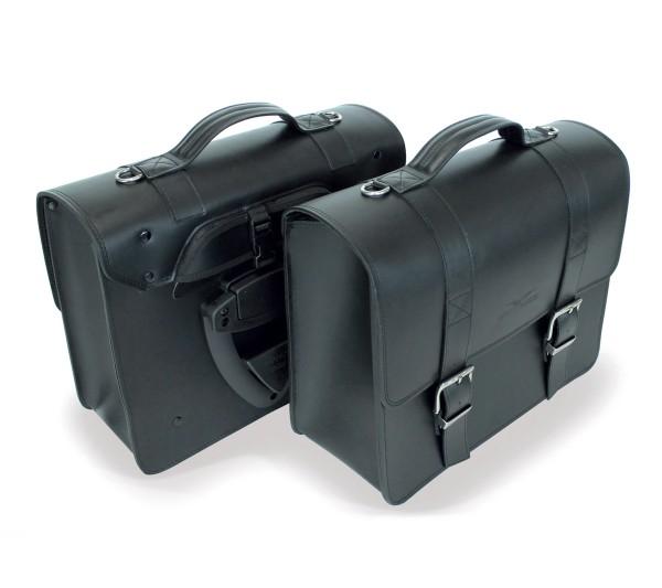 Seitentasche, schwarz für Moto Guzzi V7 III/ V9 Bobber / Roamer/ Audace